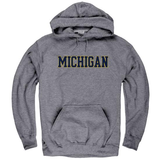 University of Michigan Graphite Hooded Sweatshirt