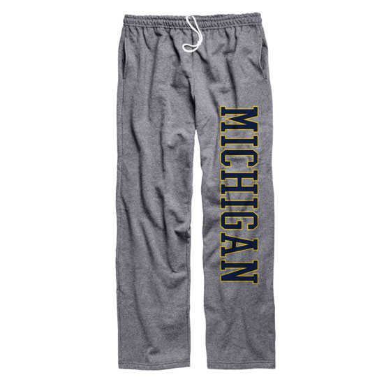 University of Michigan Graphite Open Bottom Pants