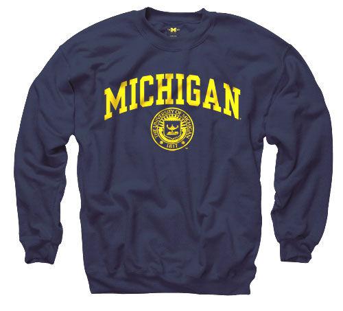 University of Michigan Navy Seal Crewneck Sweatshirt
