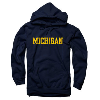 University of Michigan Navy Basic Hooded Sweatshirt