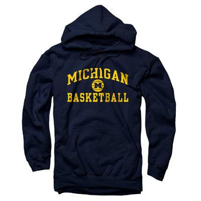 University of Michigan Basketball Navy Hooded Sweatshirt