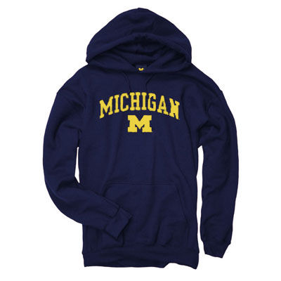 University of Michigan Navy Screen Hooded Sweatshirt