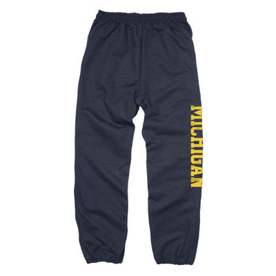 University of Michigan Navy Vertical Print Sweatpants