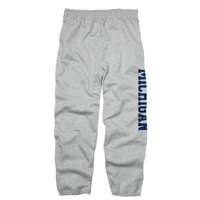 University of Michigan Oxford Gray Vertical Sweatpants