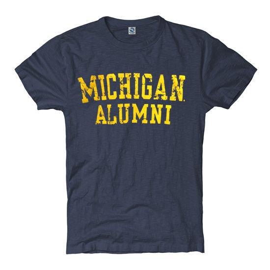 University of Michigan Alumni Women's Heather Navy Tee