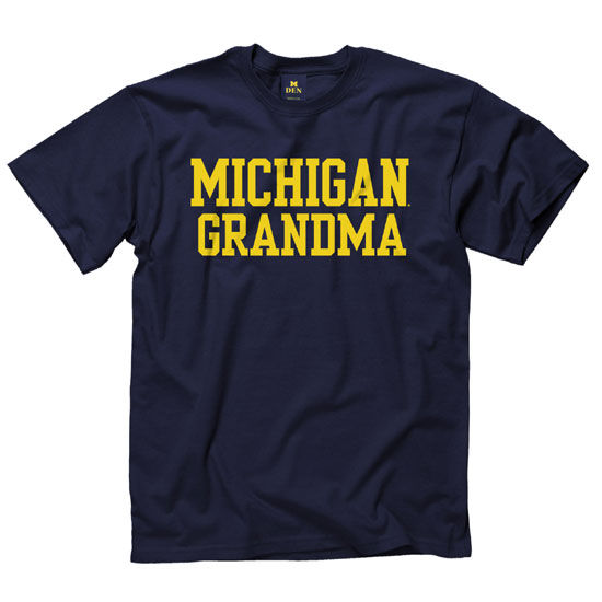 University of Michigan Grandma Navy Tee