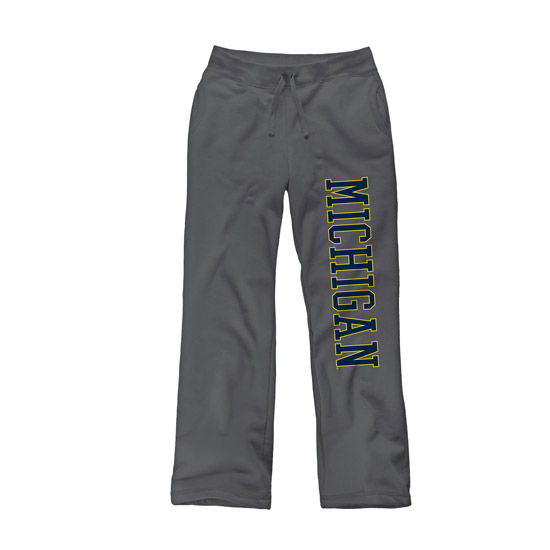 New Agenda University of Michigan Ladies Charcoal Gray Sweatpants