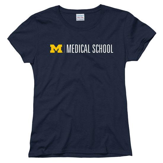 New Agenda University of Michigan Medical School Ladies Navy Tee