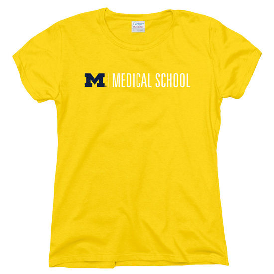 New Agenda University of Michigan Medical School Ladies Yellow Tee