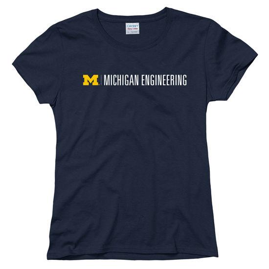University of Michigan Engineering Women's Navy Tee