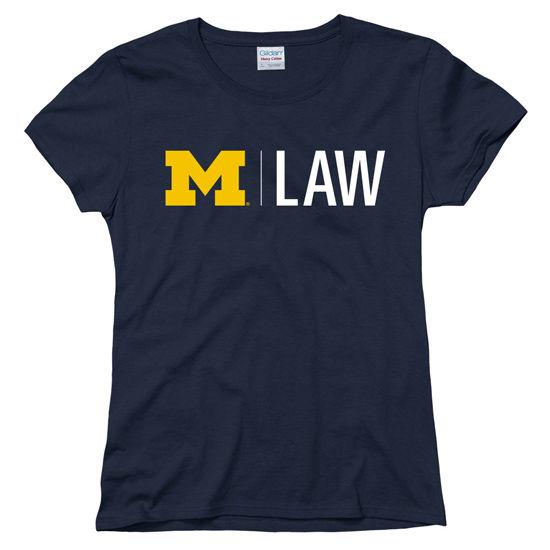 University of Michigan Law School Women's Navy Tee