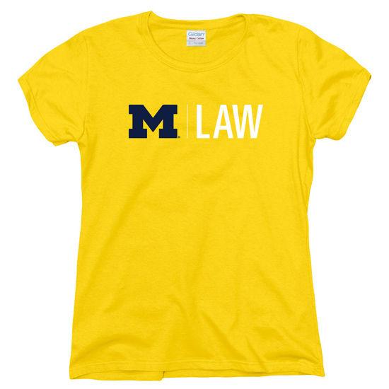 University of Michigan Law School Women's Yellow Tee