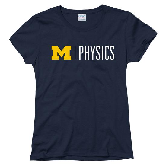 University of Michigan Physics Women's Navy Tee