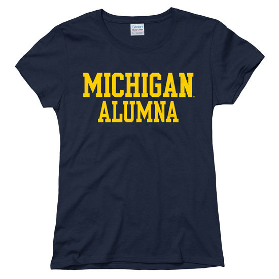 University of Michigan Alumna Women's Navy Tee