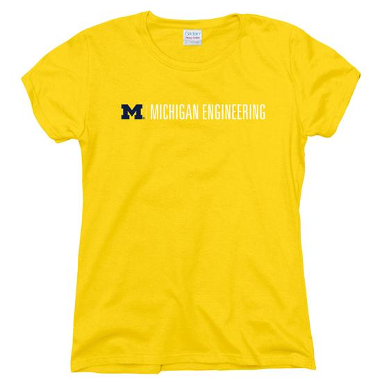 University of Michigan Engineering Women's Yellow Tee