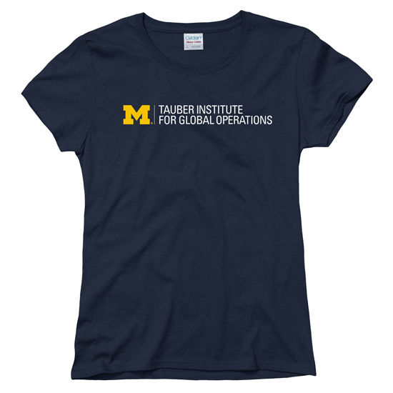 New Agenda University of Michigan Tauber Institute Ladies Navy Tee