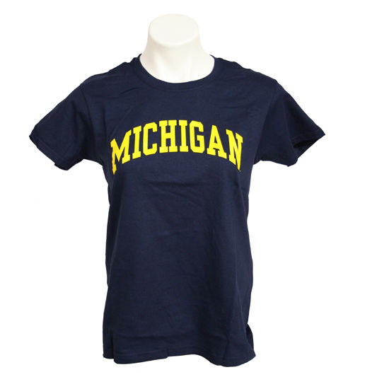University of Michigan Women's Navy Basic Tee
