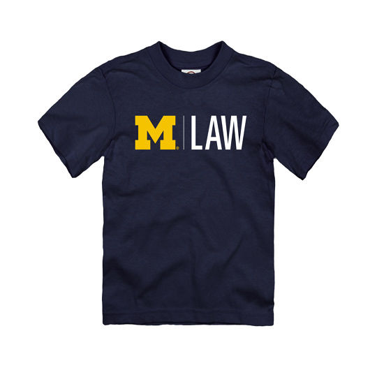 University of Michigan Law School Navy Toddler Tee