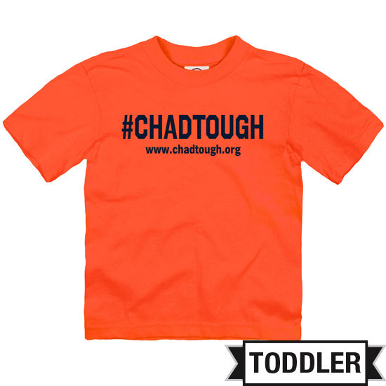 #ChadTough Foundation Toddler Orange Tee