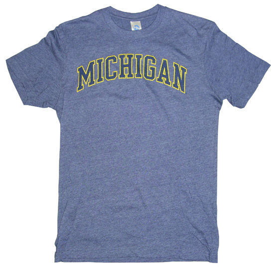 University of Michigan Midnight Heather Navy Tee