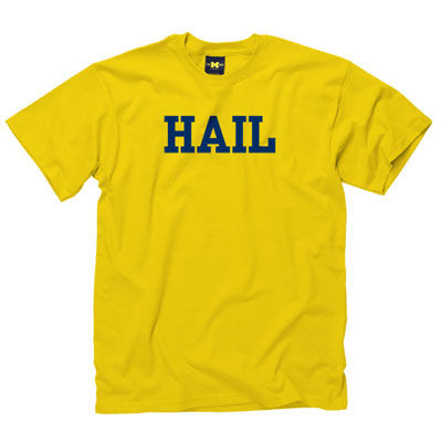 University of Michigan Yellow HAIL Tee