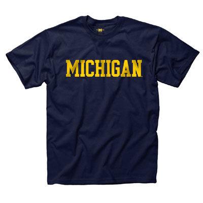 University of Michigan Youth Navy Basic Tee