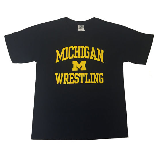 New Agenda University of Michigan Wrestling Youth Navy Sport Tee