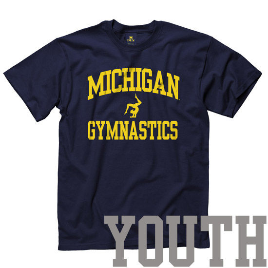 NAY1206 new agenda university of michigan women's gymnastics youth sport tee,U Of M Womens Clothing