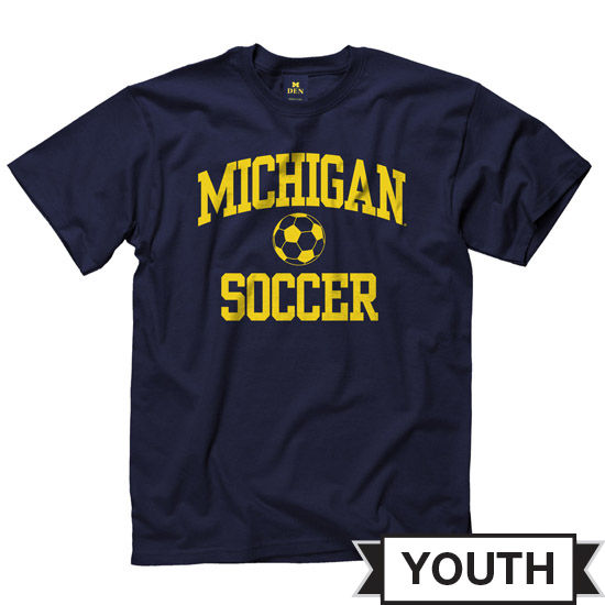 University of Michigan Soccer Youth Navy Tee