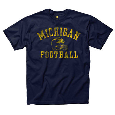 New Agenda University of Michigan Youth Football Navy Tee