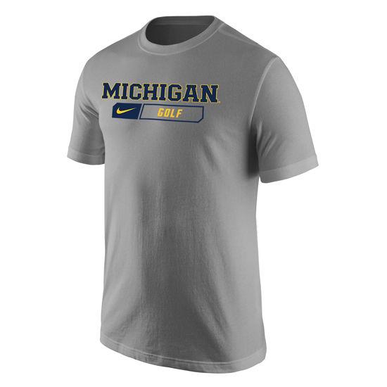 Nike University of Michigan Golf Heather Gray Sport Tee