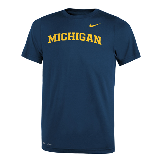 Nike University of Michigan Navy Basic Dri-FIT Legend Tee
