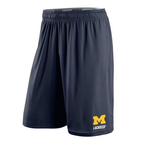 Nike University of Michigan Lacrosse Navy Dri-FIT Fly Short