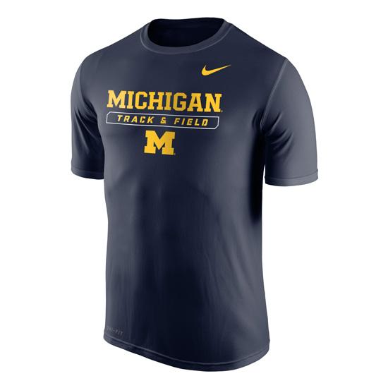Nike University of Michigan Track & Field Navy Dri-FIT Legend Tee