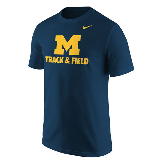 Nike University of Michigan Track & Field Navy Tee