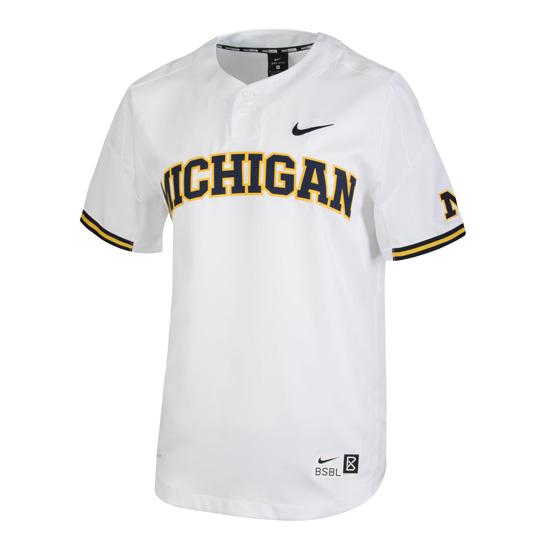 Nike University of Michigan Baseball White Replica Jersey