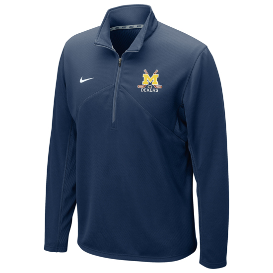 Nike University of Michigan Hockey Dekers Club Navy Dri-Fit Training 1/4 Zip Pullover