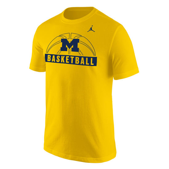 Jordan University of Michigan Basketball Yellow Sport Tee