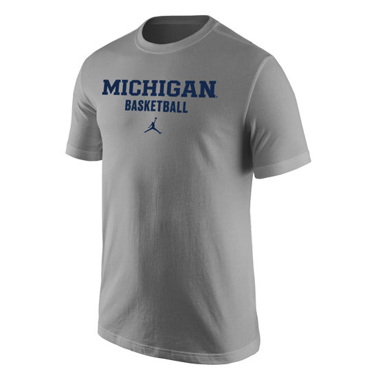 Jordan University of Michigan Basketball Heather Gray Basic Tee