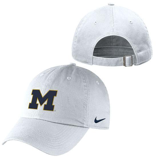 Nike University of Michigan White Campus Hat