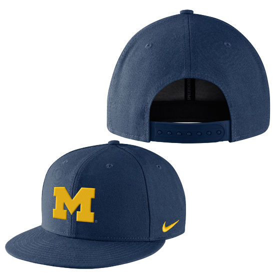 Nike University of Michigan Core True Flat Brim Snapback Dri-FIT Hat