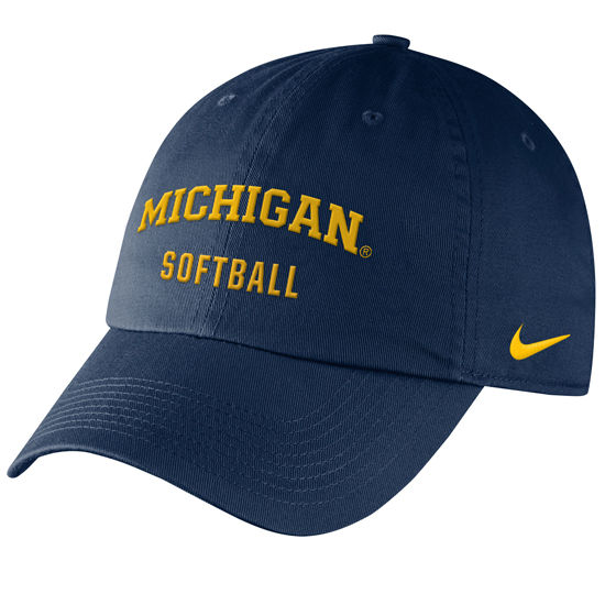 916cf2c323e Nike University of Michigan Softball Navy Sport Hat