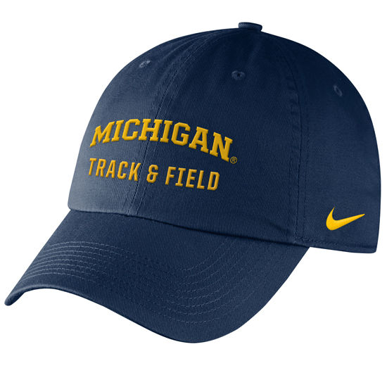 Nike University of Michigan Track Navy Sport Hat