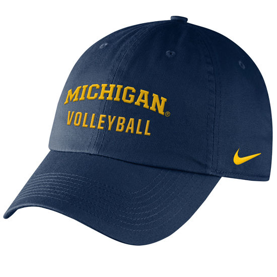 Nike University of Michigan Volleyball Navy Sport Hat