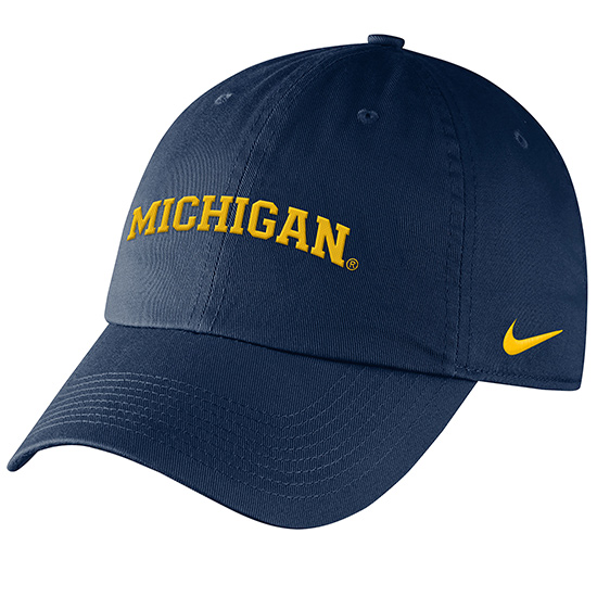 Nike University of Michigan Women's Navy Heritage86 Arched ''Michigan'' Slouch Hat