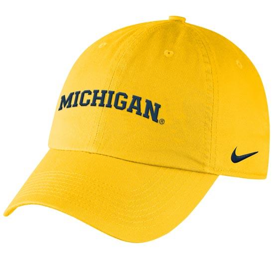 Nike University of Michigan Women's Maize Heritage86 Arched ''Michigan'' Slouch Hat