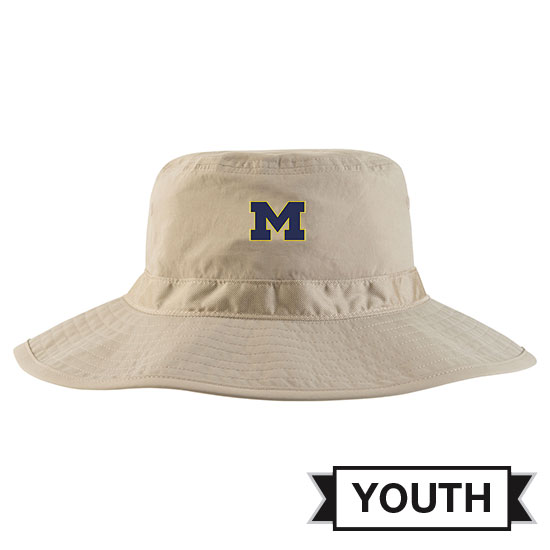 Jordan University of Michigan Youth Khaki Safari Bucket Hat