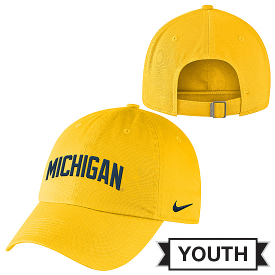 Nike University of Michigan Youth Yellow Heritage86 Slouch Hat