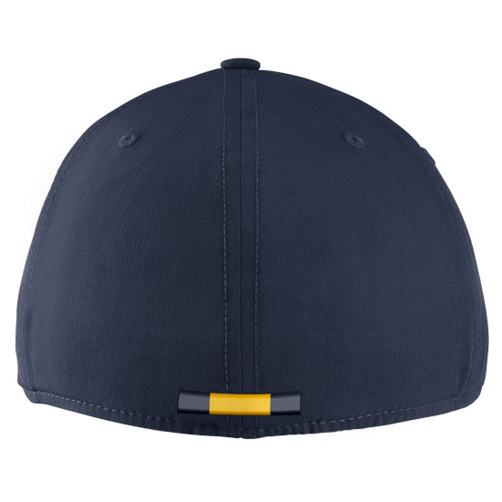 927d770e Jordan University of Michigan Football Youth Navy Aerobill Sideline Coaches  Dri-FIT Swoosh Flex Fit Hat