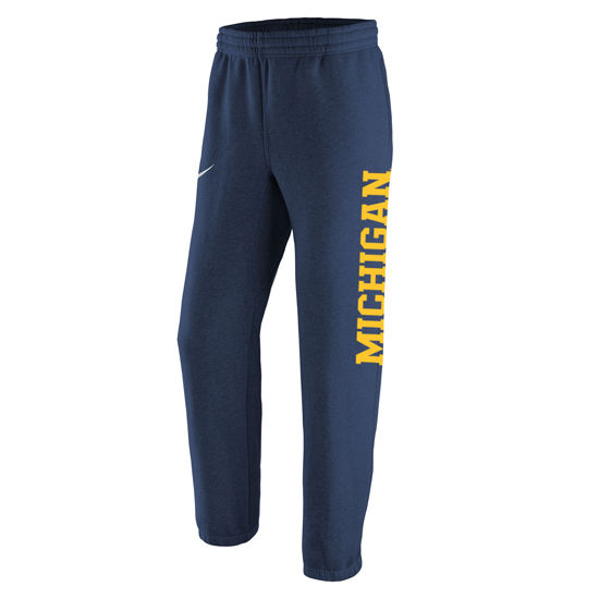 Nike University of Michigan Navy Stadium Club Fleece Sweatpants